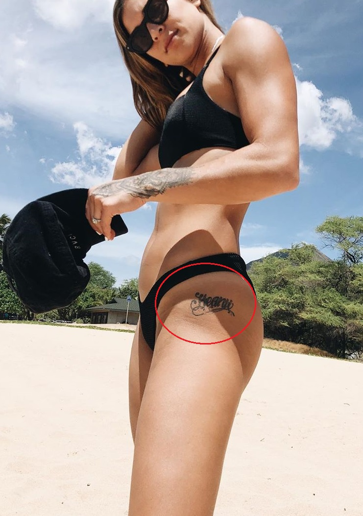 Kailin Curran Left Leg Tattoo