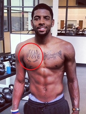 Kyrie Irving Chest Tattoo