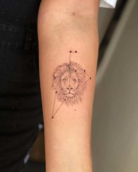 Leo Constellation Tattoo: Leo Tattoos: 50+ Designs With Meanings, Ideas