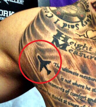 Marcus Stroman Airplane Tattoo