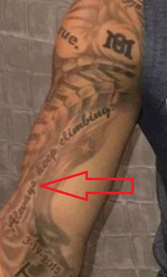 Marcus Stroman Always keep Climbing Tattoo