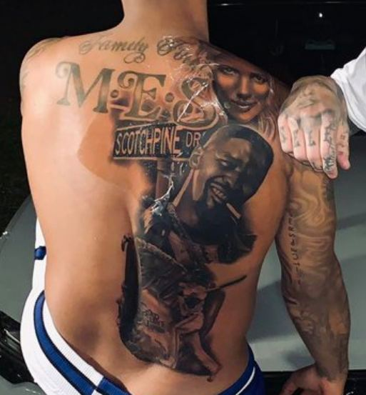 Marcus Stroman Back Tattoo