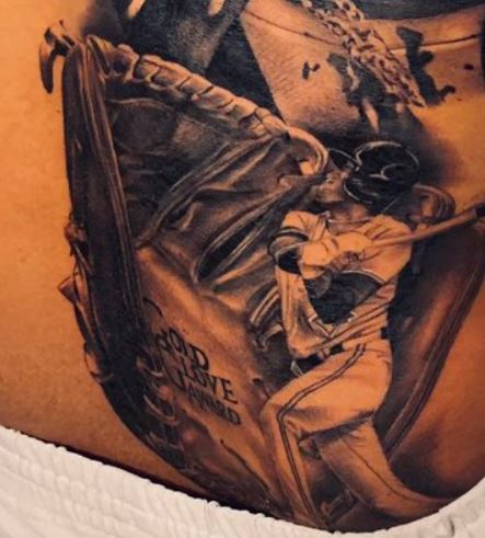 Marcus Stroman Baseball Portrait Tattoo