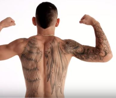 Max Holloway Angel Wings Tattoo