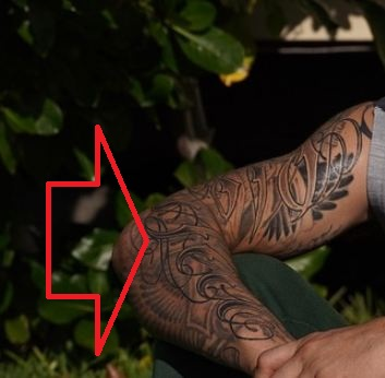 Max Holloway Blessed Tattoo .
