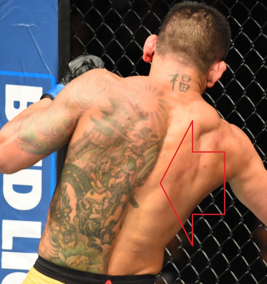 Rafael Dos Anjos Back Tattoo