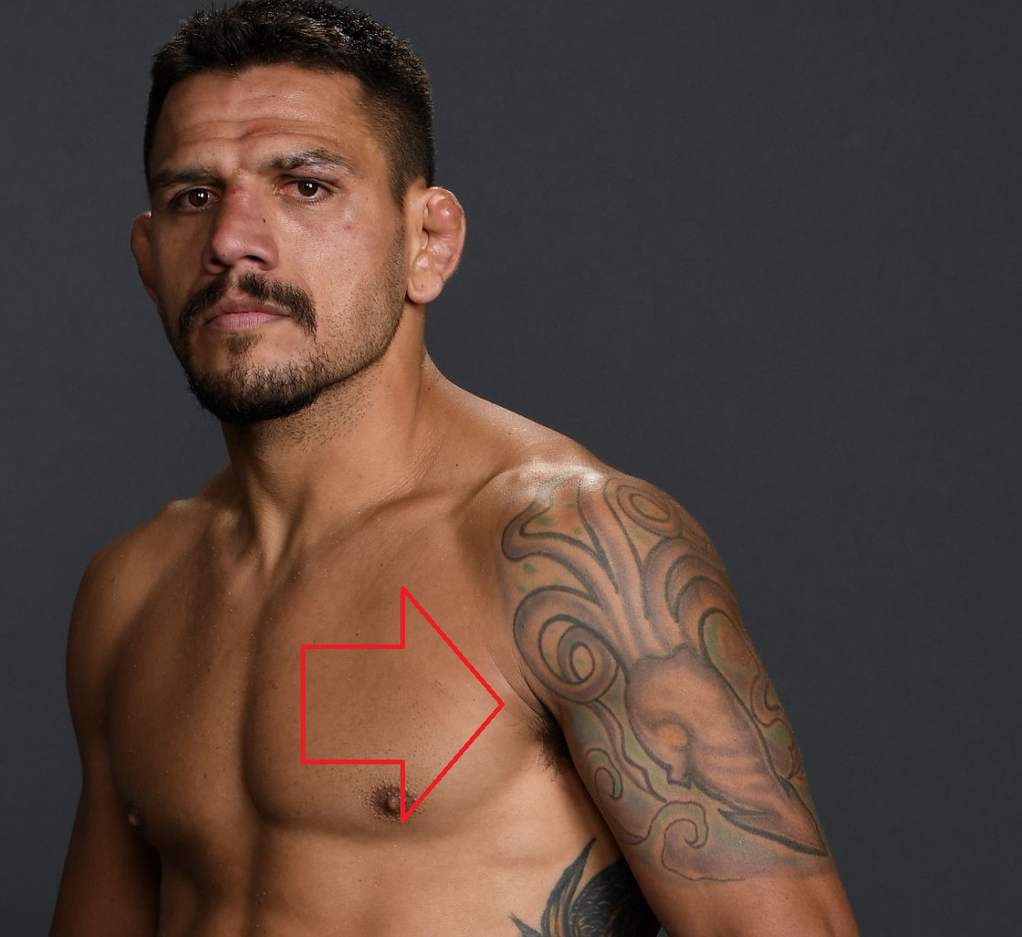 Rafael Dos Anjos Left Shoulder Tattoo