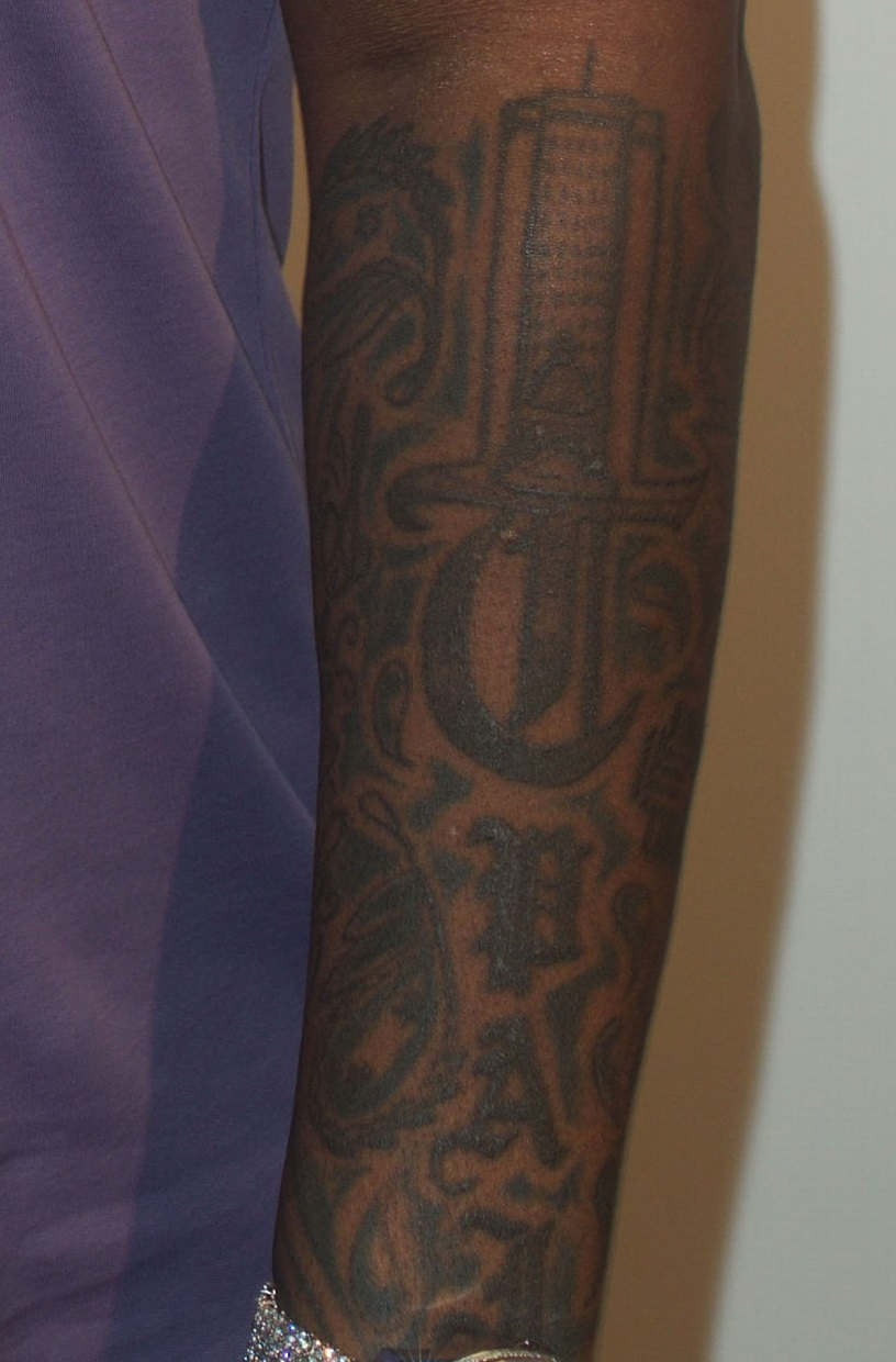 T Pain Left Arm Tattoo