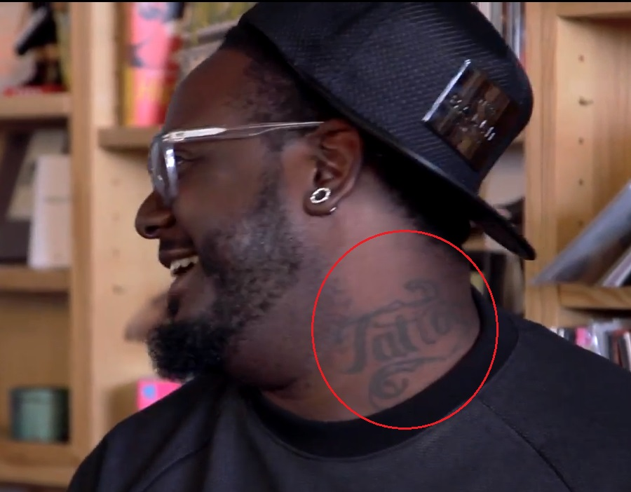 T Pain Neck Tattoo
