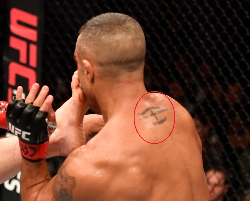 Vitor Belfort Back Neck Tattoo