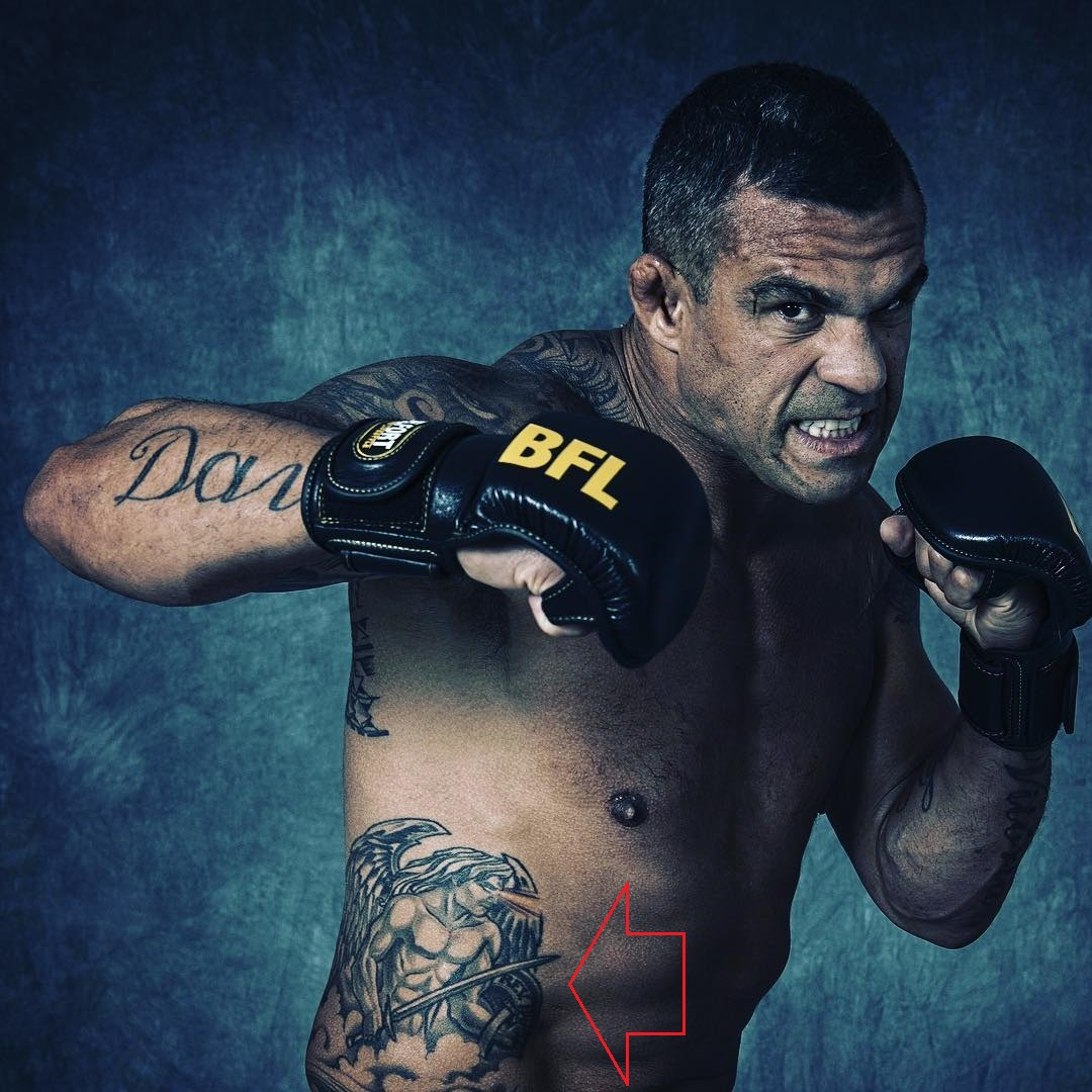 Vitor Belfort Right Abdomen warrior Tattoo.jpg01