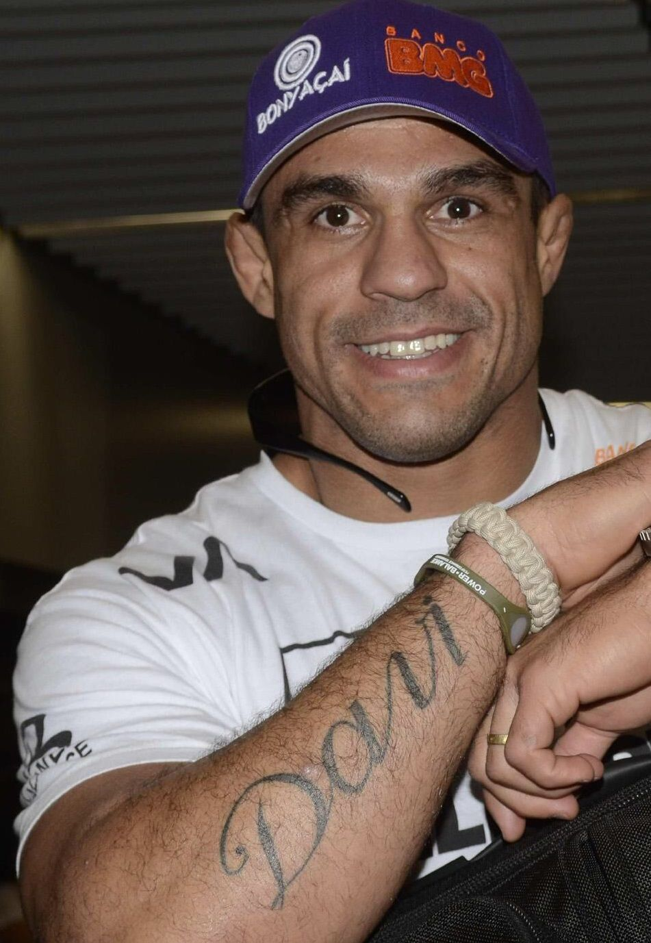 Vitor Belfort Right Arm Davi Tattoo