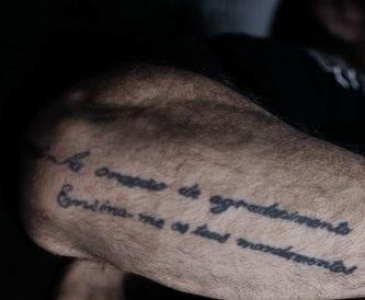 Wanderlei Silva Right Arm Quote Tattoo
