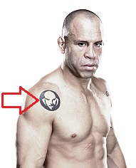 Wanderlei Silva Right Shoulder Tattoo
