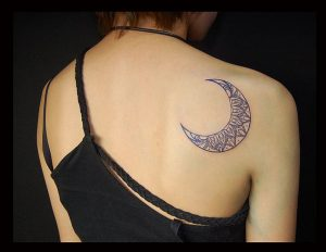 moon tattoo design