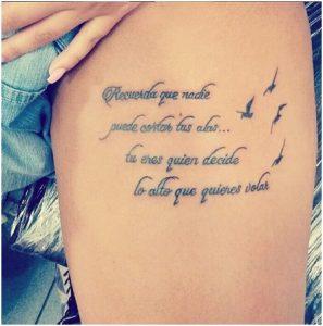 tattoo in Spanish