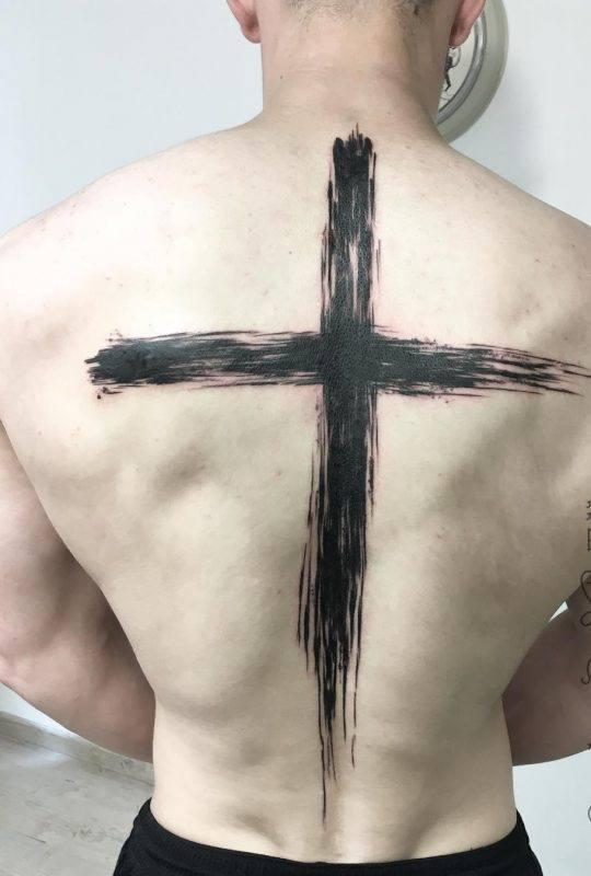 распространенных фото тату крест на голове быть рядом