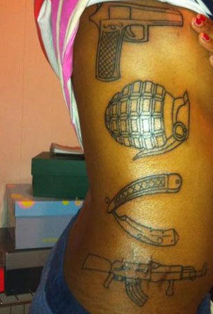 33 Great Gun Tattoos With Meanings And Celebrities Body Art Guru