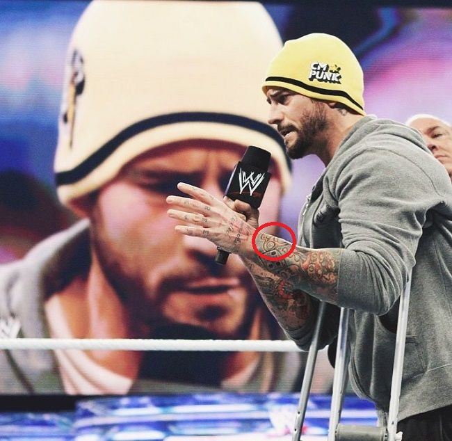 CM Punk-Iron Knuckle Tattoo
