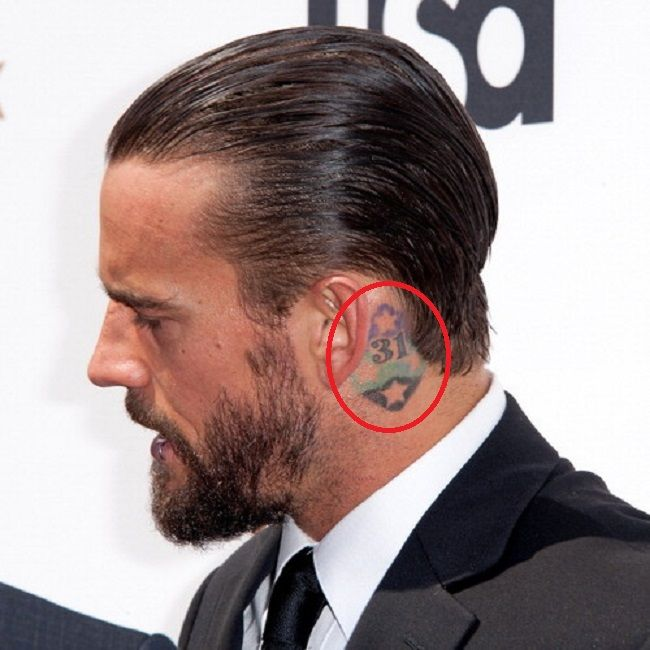 CM Punk-Number 31 tattoo