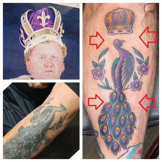 CM Punk-Tattoo-Leg-Harley Race