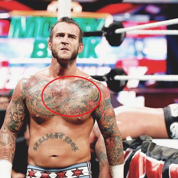 CM Punk-dragon tattoo