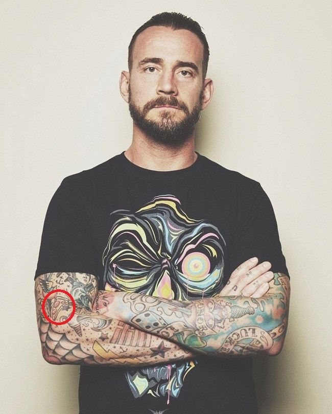 CM Punk-pizza slice tattoo