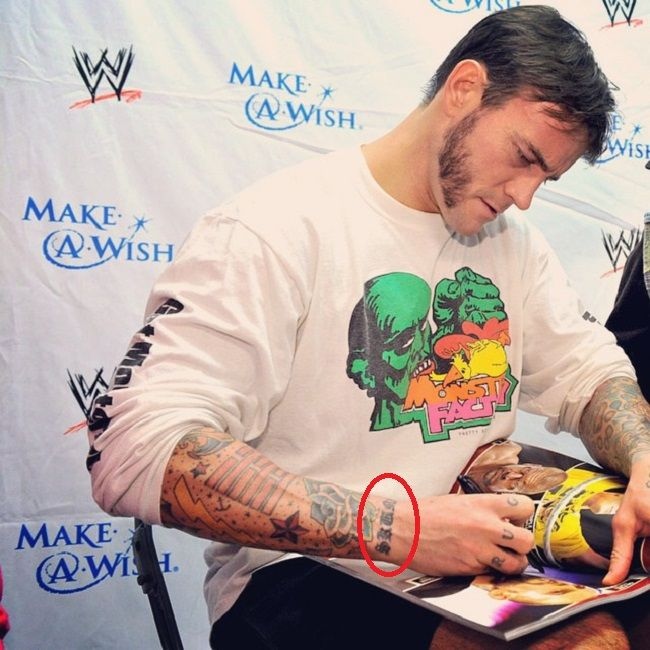 CM Punk-unidentified tattoo
