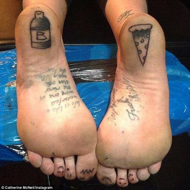 Catherine McNeil Foot Tattoos