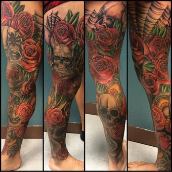 Cub Swanson Right Leg Tattoos