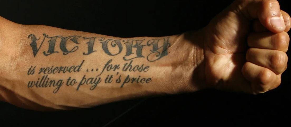 Cub Swanson VICTORY Tattoo