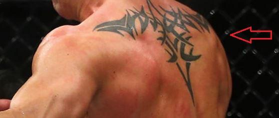 Dominick Cruz tribal tattoo