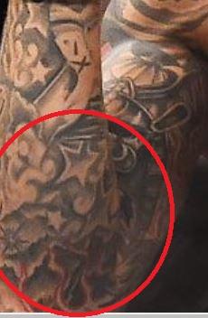 Dustin Fire and Stars Tattoo