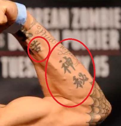 Dustin Poirier Chinese Tattoos