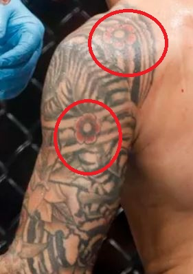 Dustin Poirier Flower Tattoos