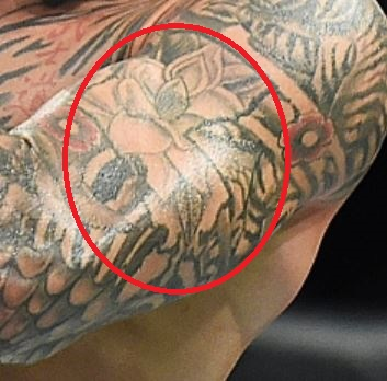 Dustin Poirier Mangnoli Flower Tattoo