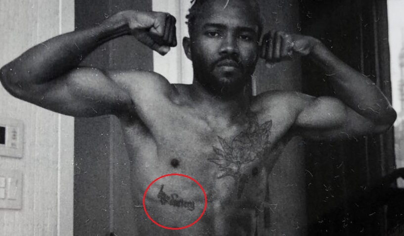 Frank Ocean Right Side Chest Quote Tattoo