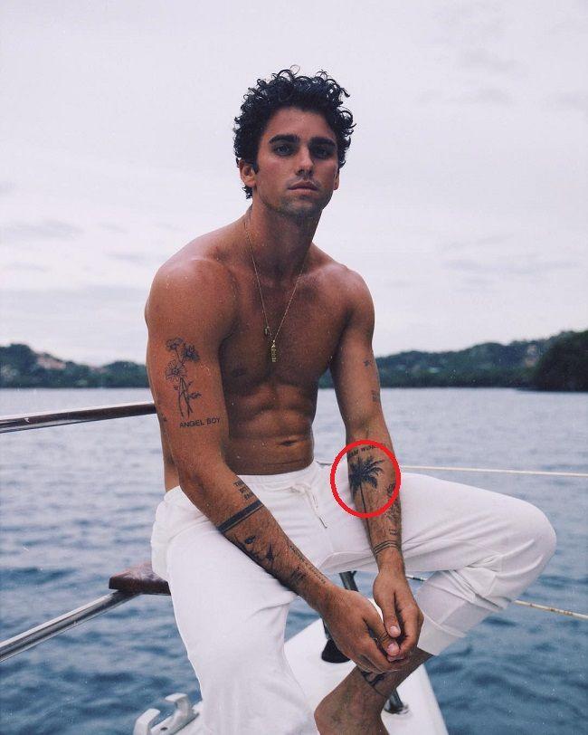 Jay Alvarezz-palm tree tattoo