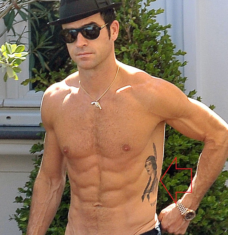 Justin Theroux Side Tattoo