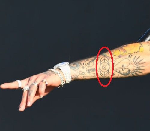 Lil Skies-jandora media logo tattoo