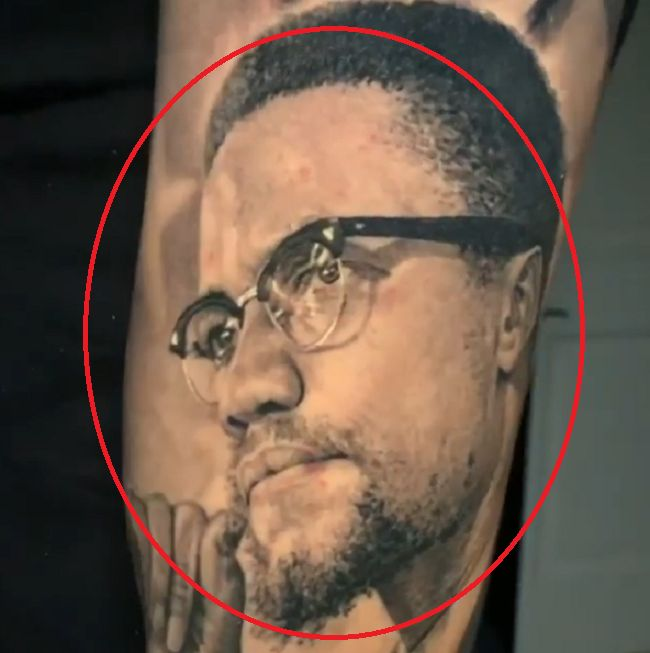 Lonzo Ball-Malcolm X tattoo