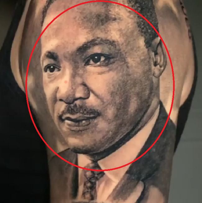 Lonzo Ball-martin luther king tattoo