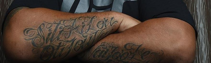 Mark Hunt Arm Tattoos