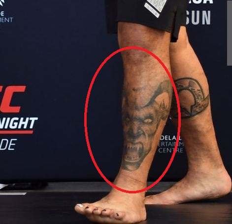 Mark Hunt Dragon Tattoo