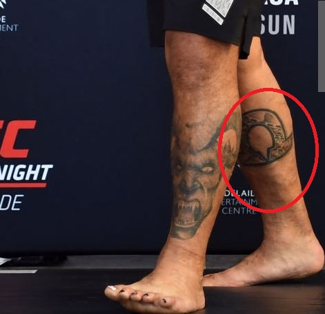 Mark Hunt Symbol Tattoo