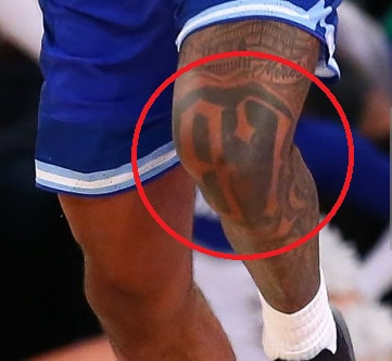 Myles Powell Left Leg 97 Tattoo