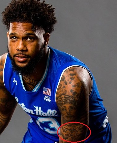 Myles-Powell-Left-Shoulder Quote Tattoo