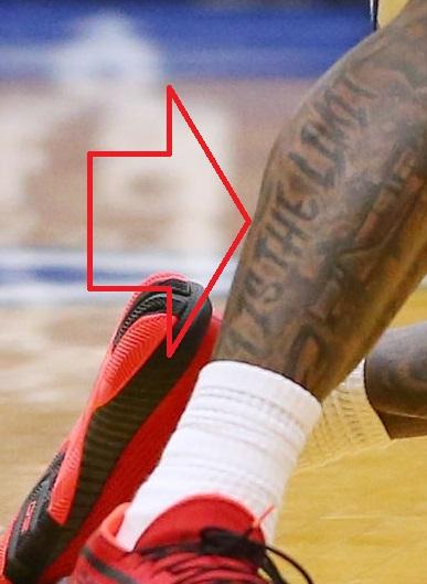 Myles Powell Right Leg Sky is the limit Tattoo