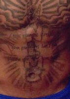 Myles Powell Stomach Tattoo