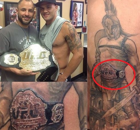 Robbie Lawler Gladiator UFC Belt Tattoo
